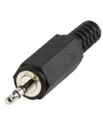 Stereoconnector 2.5 mm Male PVC Zwart