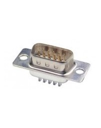 44-p Sub-D connector soldeer male HD
