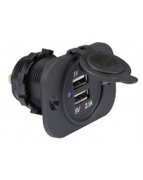 Flush mount USB socket 12-24 VDC IN 5V out
