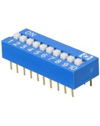 Dip switch 10 polig