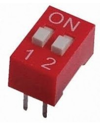 Dip switch 2 polig