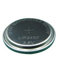 LIR2450  Rechargeable Battery, Coin Cell, Single Cell, Lithium Ion, 120 mAh, 3.6 V, 2450, 24.5 mm