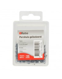 2x0.75mm twin Pershuls geisoleerd