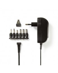 Nedis Universal AC Power Adapter / 3/4.5/5/6/7.5/9/12 VDC / 1.5 A