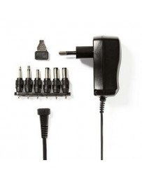 Nedis Universal AC Power Adapter | 3/4.5/5/6/7.5/9/12 VDC | 0.6 A