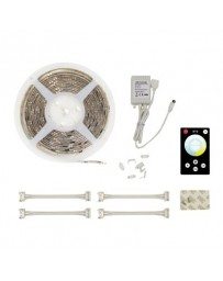 Led strip twin wit/warmwit met controller 5mtr