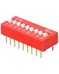 Dip switch 9 polig